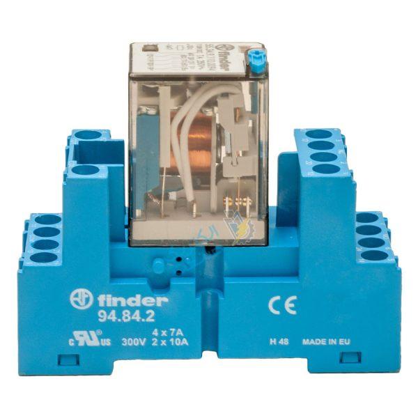 رله کمکی فیندر 110VAC و پایه ۱