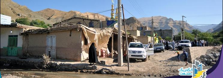 نداشتن راه دسترسی، عامل بی برقی نداشتن برق ۸ روستای سیل زده لرستان