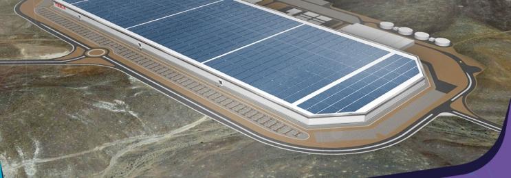 تسلا در حال ساختن بزرگترین سقف مجهز به پنل های خورشیدی در دنیا است.