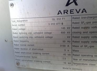 فروش بریکر AREVA-132KV