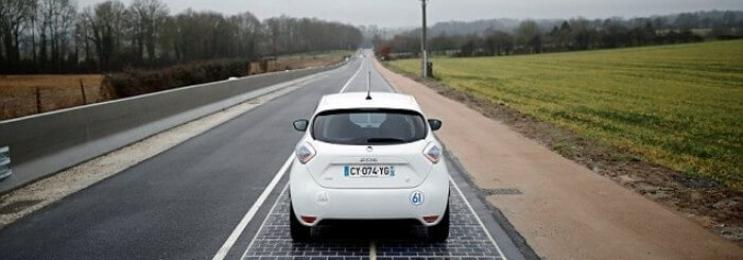 افتتاح اولین جاده خورشیدی جهان